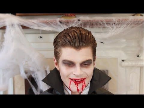 HALLOWEEN MAKEUP TUTORIAL! I made my boyfriend into a Vampire - maquillaje de vampiro hombre