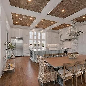 Coffered Ceiling With Wood Trim Kitchens Pinterest
