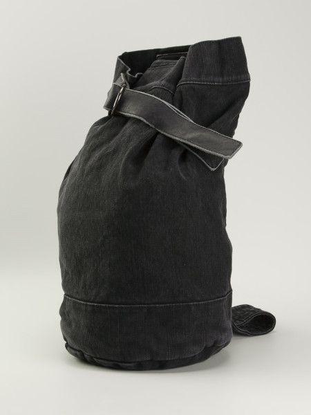 Men s Black Single Strap Backpack   Yohji Yamamato   Pinterest ... 1da18a5aa0