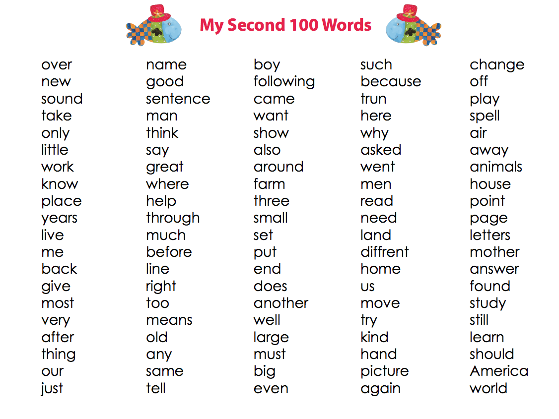 Worksheets First Grade 100 Sight Words my first 100 words set of 3 x list language kidspressmagazine com