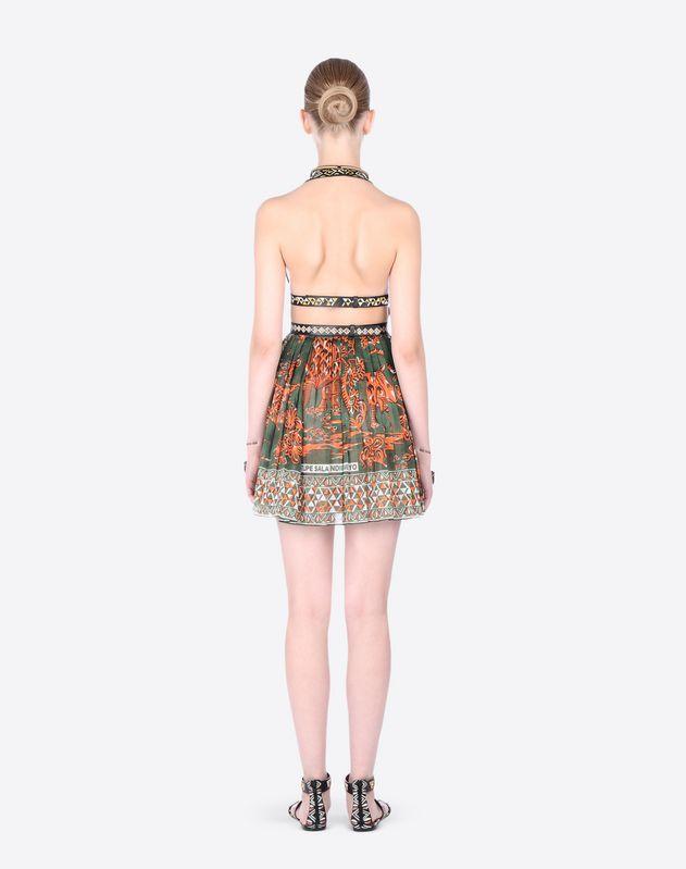 Logo Plain weave Unlined Sleeveless Contrasting applications V-neckline  Women 34586056sp