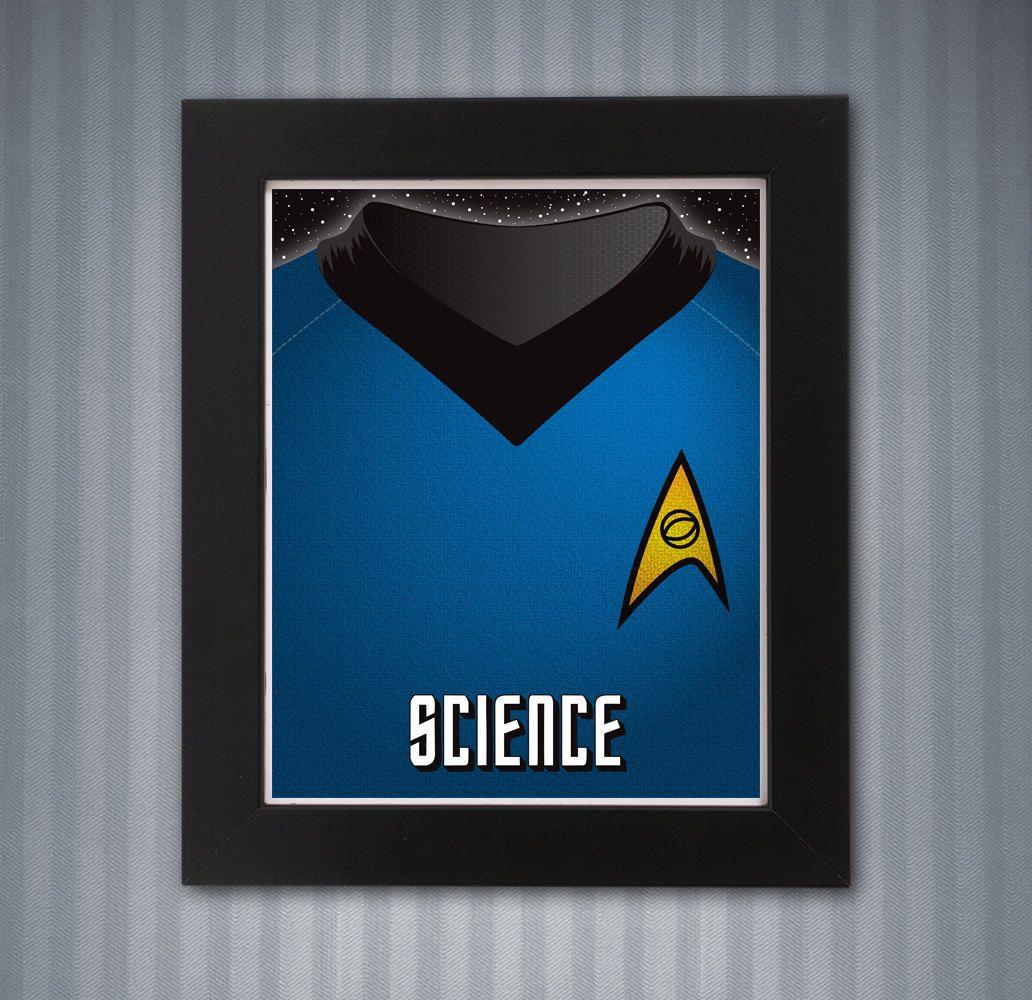 Star Trek Blue Shirt Print - 8x10 by KnerdKraft on Etsy
