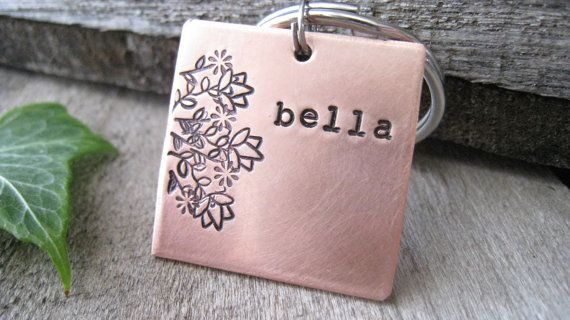 Pet Tag  Personalized Dog Tag  Dog Collar  ID by TheWoodenWillow