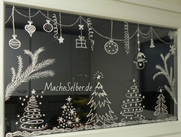 Http://www.macheselber.de/weihnachtsdeko Fur Fenster/ | Kreative Ideen |  Pinterest | Chalkboards, Xmas And Window
