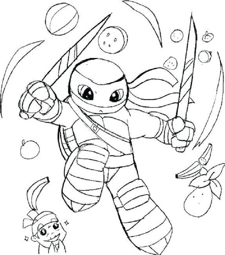 Teenage Mutant Ninja Turtles Coloring Pages Ninja Turtle