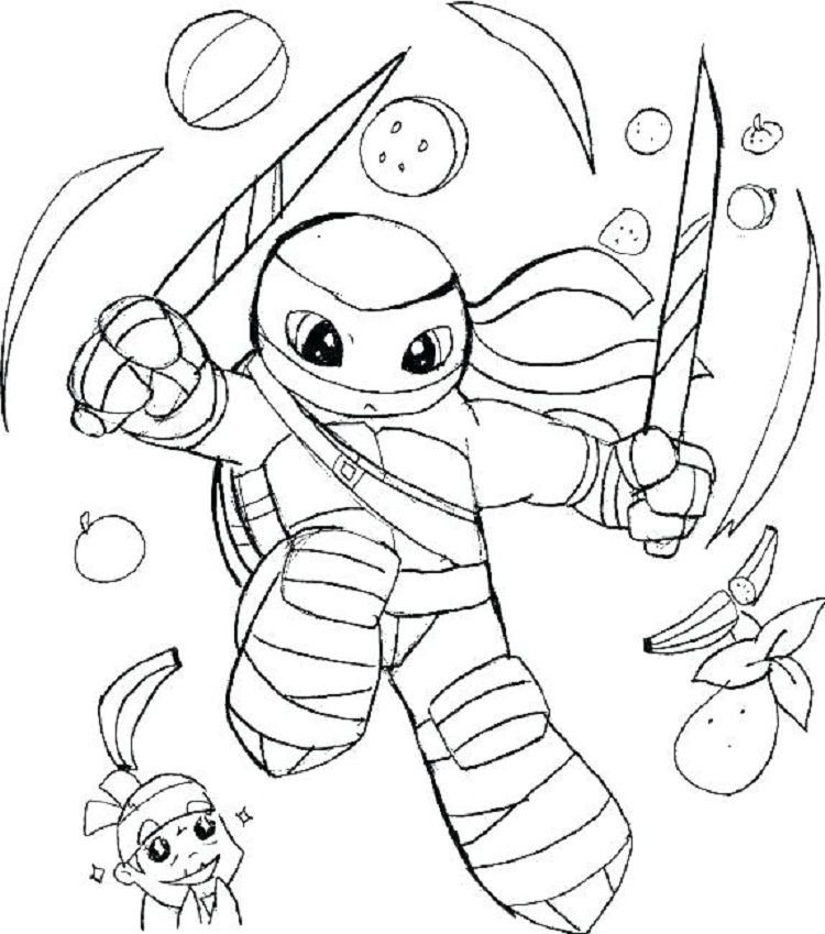Cute Ninja Turtles Coloring Pages Ninja Turtle Coloring Pages