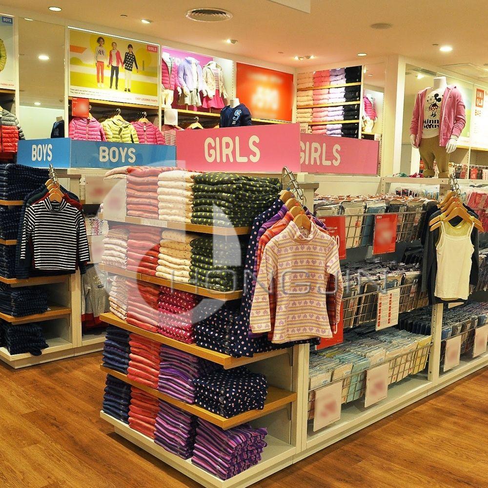 Kids Clothing Display Stand For Shop/ Garment Shop Interior Design.