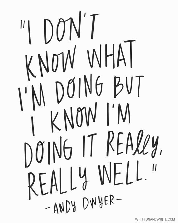 I Dont Know What Im Doing But I Know Im Doing It Really Really Well Quote From Parks Rec Each Print Is Hand Senior Quotes Yearbook Quotes Grad Quotes