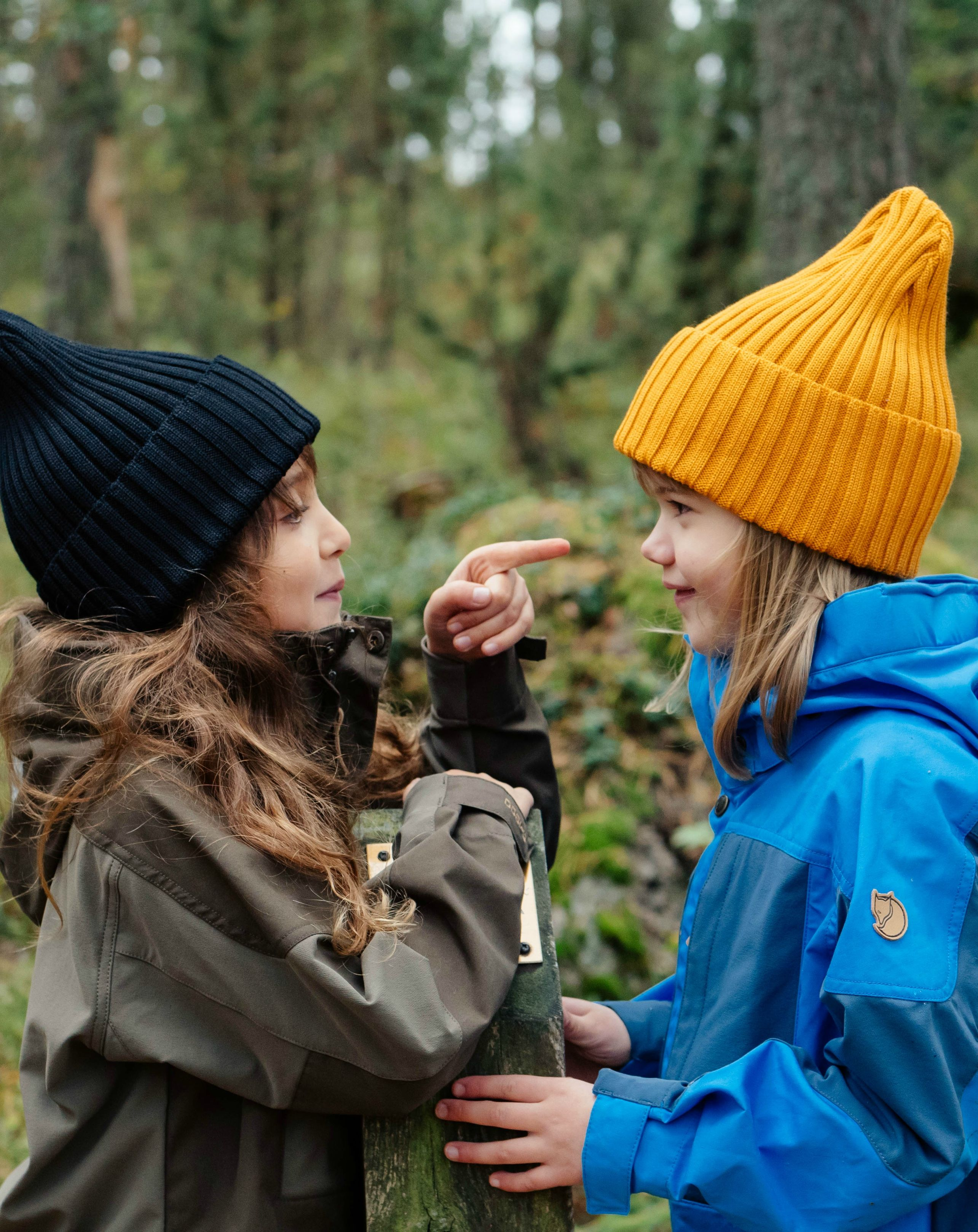 Girl Friends Having Fun Goofy In The Forest Kids Black And Yellow