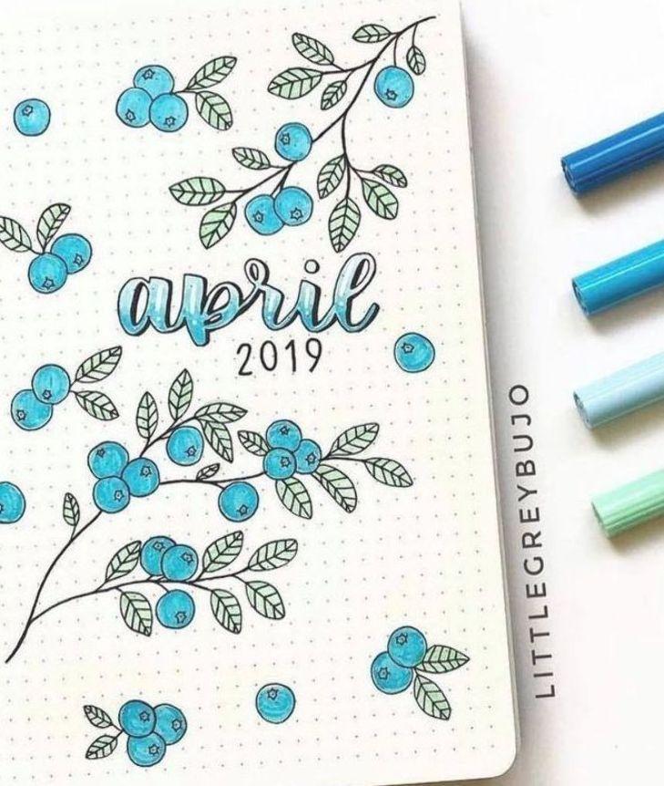 #April #Bujo #idea April bujo idea        bullet journal by @littlegreybujo | bullet journal cover d