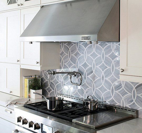 Beautiful Kitchen And Bathroom Mosaic: Beautiful Details: A Shimmery Mosaic Glass Tile Backsplash