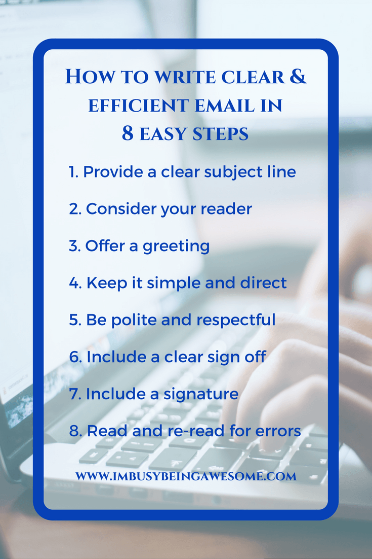 How to write clear efficient emails in 8 easy steps maximize how to write clear efficient emails in 8 easy steps maximize productivity and time management in business or workplace kristyandbryce Image collections