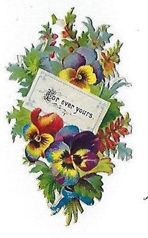 12 victorian valentine bouquets wsentimental sayings victorian die 12 victorian valentine bouquets wsentimental sayings victorian die cut scraps m4hsunfo
