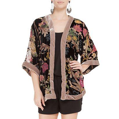 5158765b0 FARM - Kimono Farm devorê bordado - OQVestir | Preciso pra Viver ...