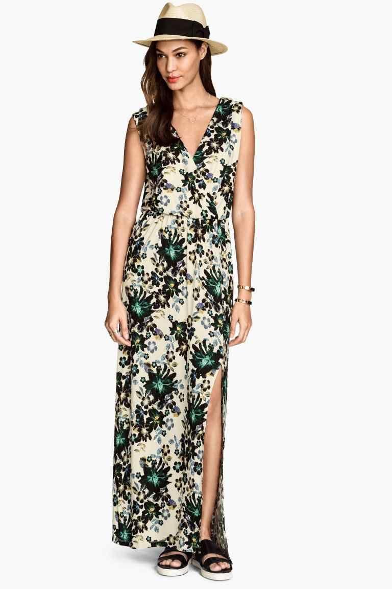 131d5af848 Długa sukienka z dżerseju