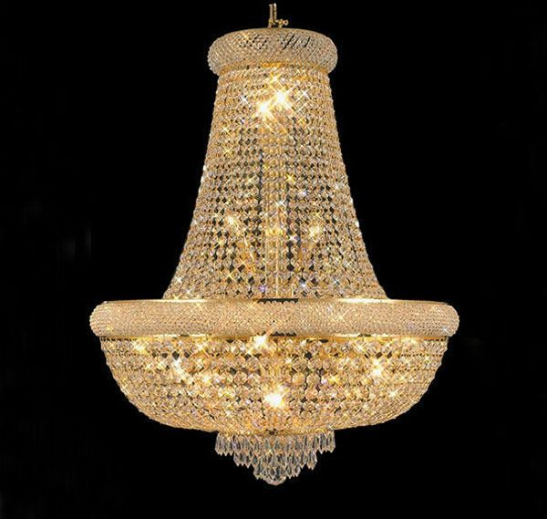Phube Lighting French Empire Gold Crystal Chandelier Chrome Chandeliers Modern Light Free