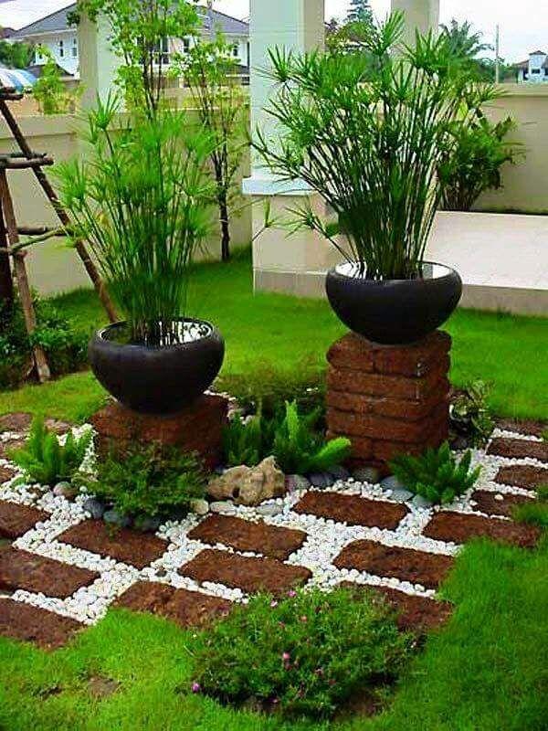 Ideas para jardines pequeños con piedra | Patios, Gardens and Yards