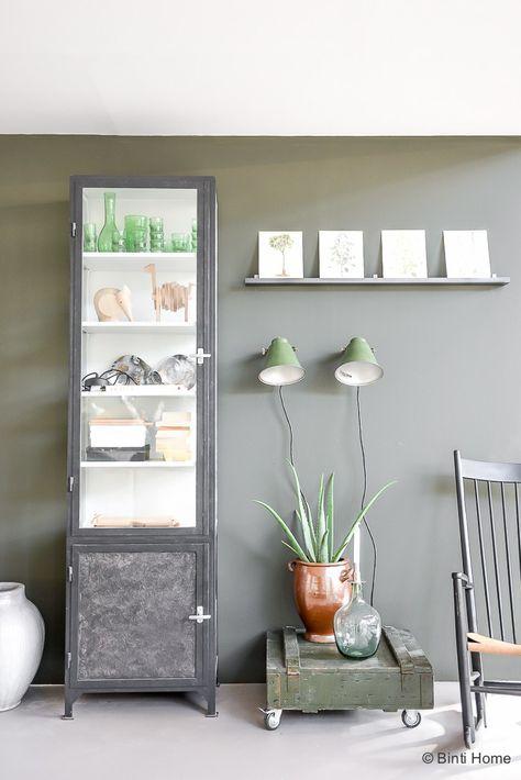 Vtwonen huis woonkamer inspiratie groene muur ©BintiHome   verf en ...