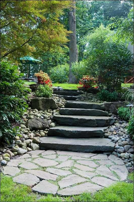 Stone Steps   Built By Gasper (Garden Step)