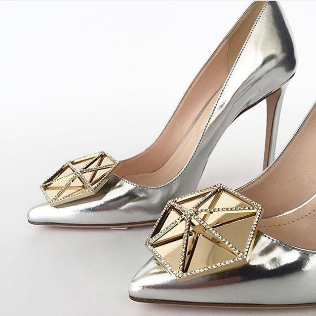 Bridal Shoes Harvey Nichols: #NicholasKirkwood Jewel Eden Pump. Silver Metallic Leather