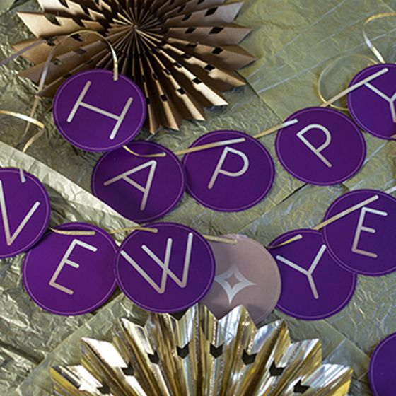 happy new year bunting printable