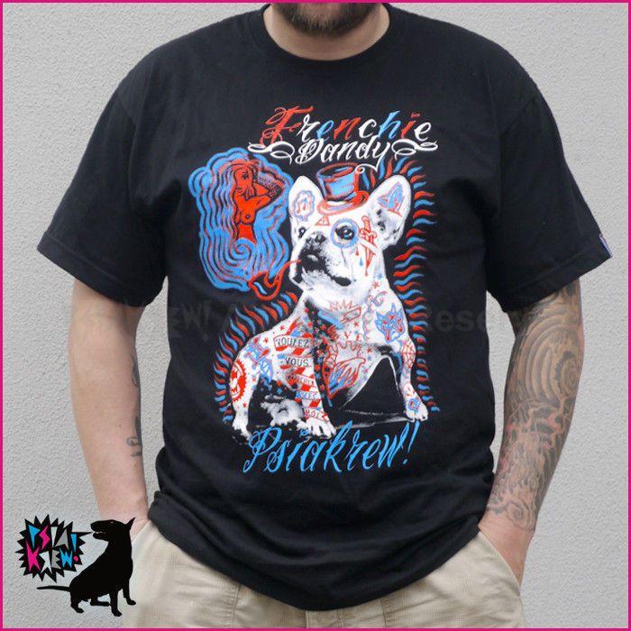 Koszulka męska Pies Bulldog Francuski Dandy – Cena | sklep internetowy Psiakrew