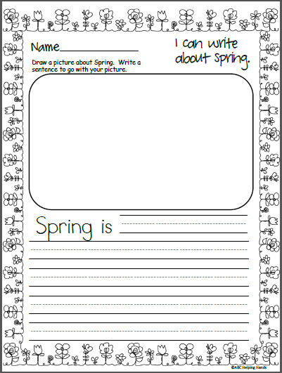 Free Spring Writing Template Madebyteachers Kindergarten Writing Prompts Spring Writing Kindergarten Spring Writing