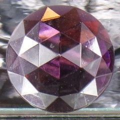 30MM ROUND FACETED GLASS JEWEL
