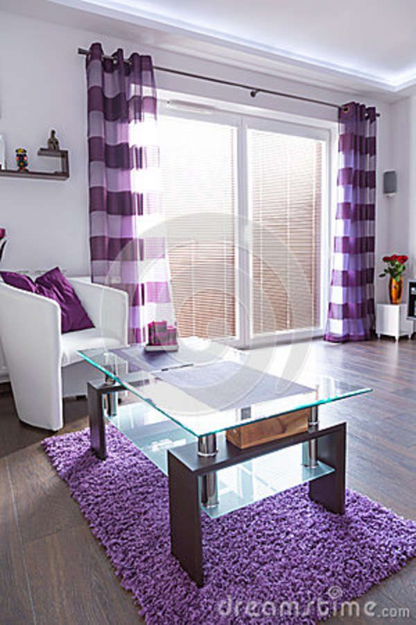 showy-modern-white-purple-living-room-interiorjpg (600×900 - Design Living