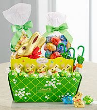 Lindt easter cheer basket flowers plants and gift baskets lindt easter cheer basket negle
