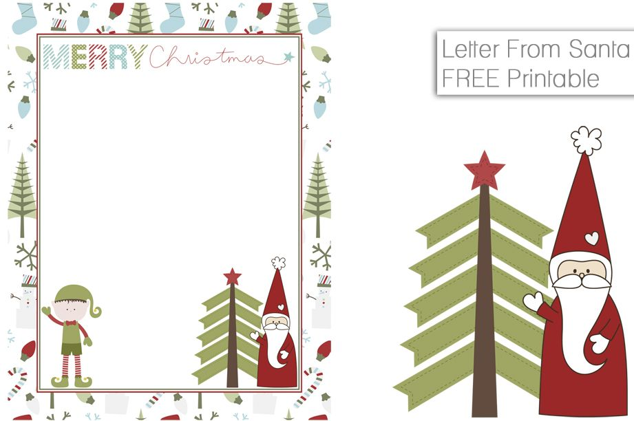 Free Printable Letter From Santa  Fancy Shanty  Stacy Molter