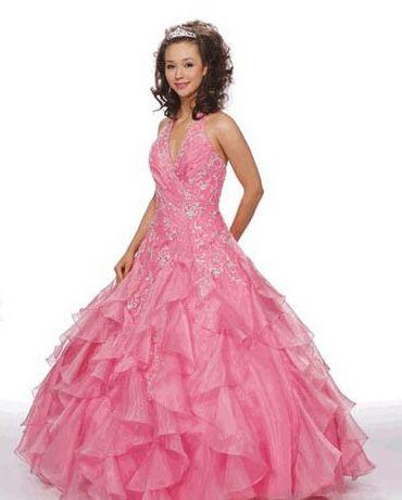 princess style pink wedding dress