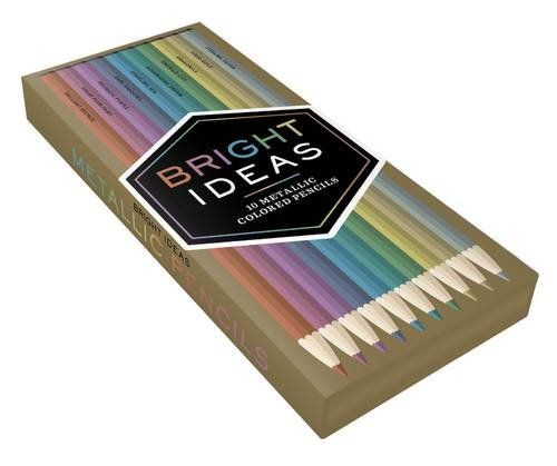Bright Ideas Metallic Colored Pencils By Chronicle Books Amazon