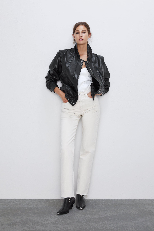 Fall 8217 S Top Trends Are Hiding In Zara 8217 S Best Sellers List Refinery29 Leather Jacket Vintage Leather Jacket Zara [ 2880 x 1920 Pixel ]