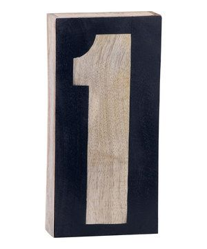 Wood Block Number One by Foreside #zulilyfinds (diy, make #s 700)