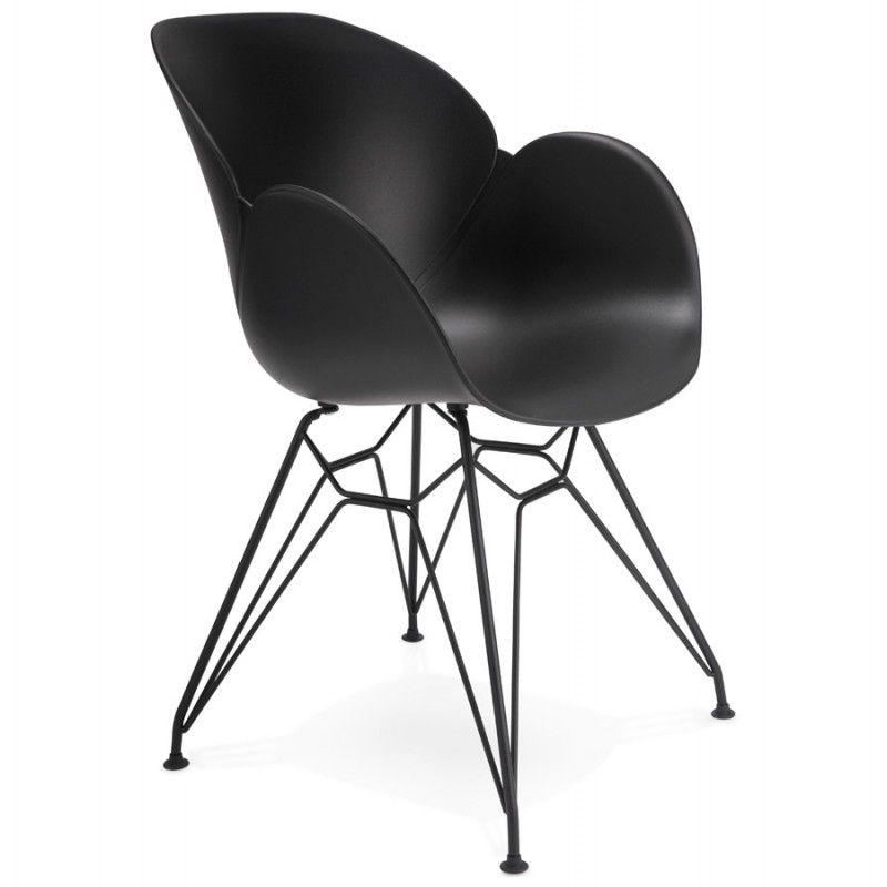 Chaise Design Style Industriel Tom En Polypropylene Pied Metal