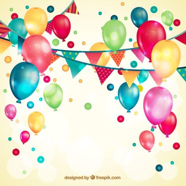 Globos Cumpleaños Vector Invitacion Cumpleaños Adultos