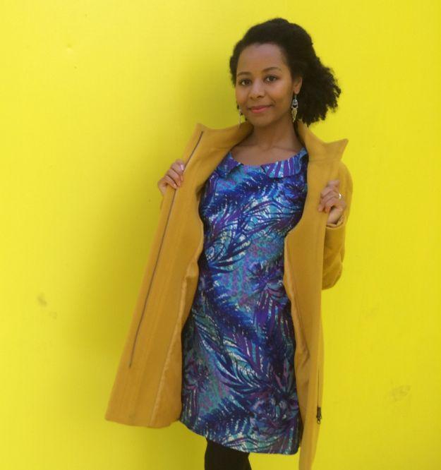 Pigeon light yellow dress