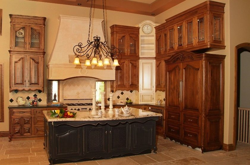 Elegant Luxurious French Country Kitchen Engaged To Modern Design Part 12