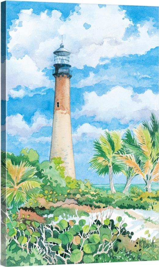 Coastal Home Decor Nautical Wall Art New England Beach Art Beach Watercolor Beach Umbrella Artwork Original Coastal Painting