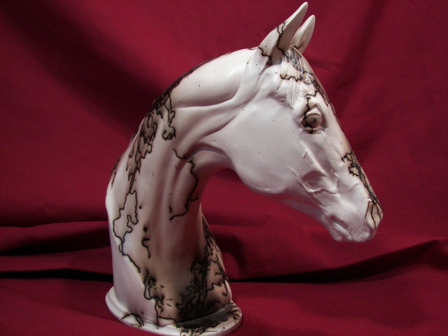 Custom Pet Memorial American Quarter Horse Statue Horse Hair