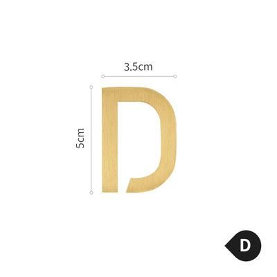 Photo of Brass Alphabet Letters – D