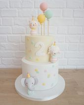A super cute cake made to match the illustrations that decorate the birthday gir A super cute cake made to match the illustrations that decorate the birthday gir