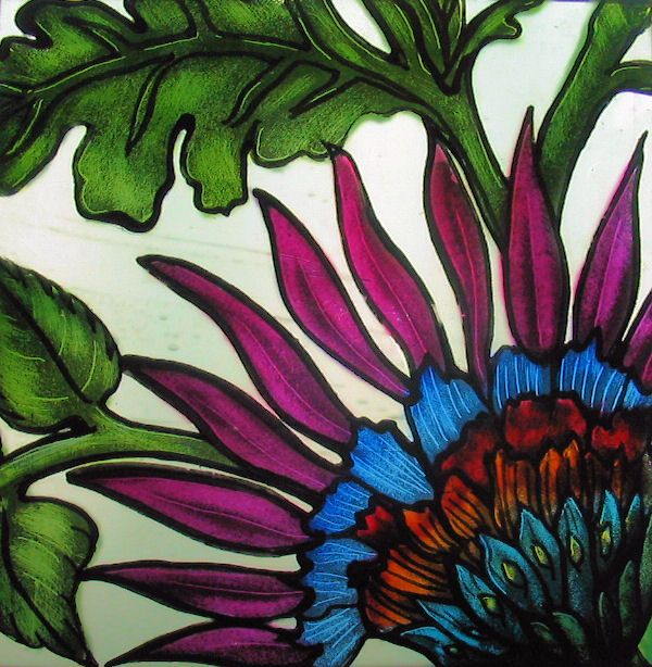 Simple glass painting ideas glass painting then this for Easy glass painting designs