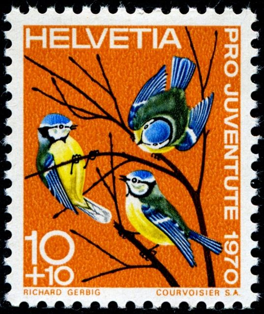 Swiss stamp designed by Richard Gerbig