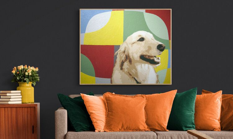 Merveilleux Mot-Clé PAUL BODDUM Modern Pet Portraits Toronto, Contemporary Dog Portraits, Abstract, Memorial, Dog Portraits Canada