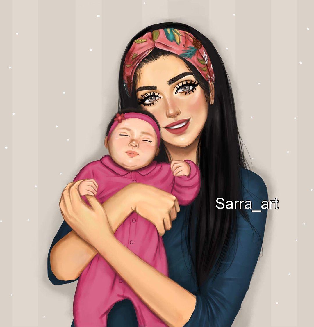La Imagen Puede Contener 2 Personas Mother Daughter Art Mom Art Sarra Art