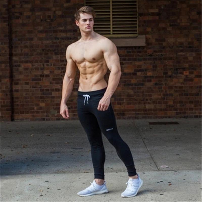 Men Fitness Sweatpants Male Gyms Bodybuilding Workout Cotton Trousers Myshoponline Com Cotton Pants Men Cotton Trousers Casual Sweat Trousers