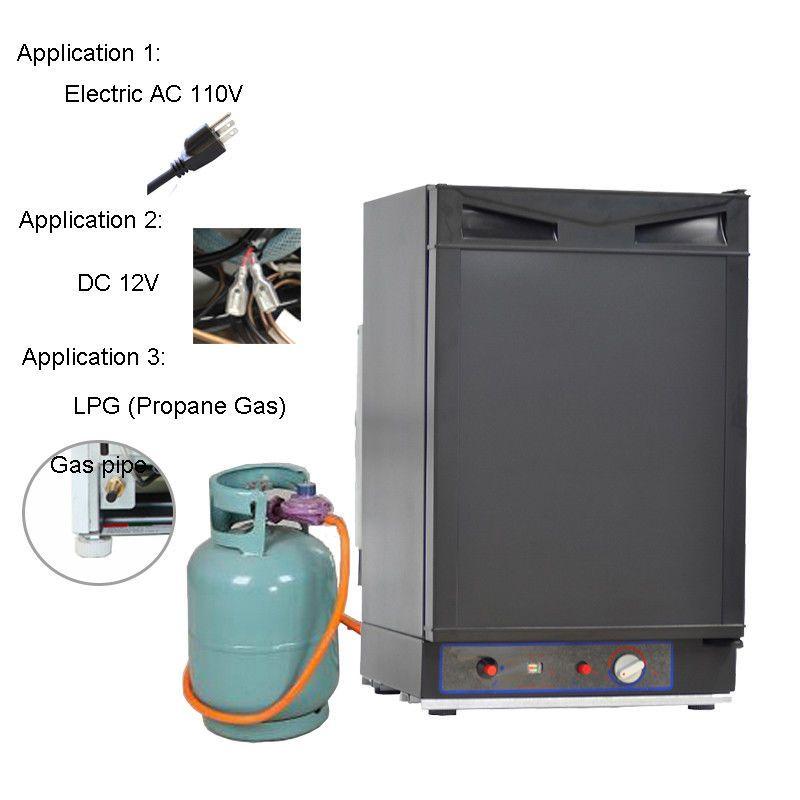 Smad 1 4 Cu Ft 12volt Propane Gas Refrigerator Truck Camper Cabin Rv Lpg Fridge Propane Refrigerators Camper Refrigerator