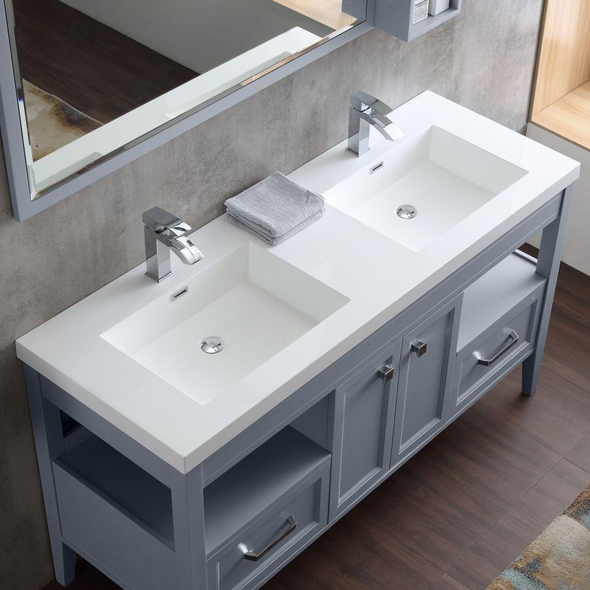 dowell double bathroom vanities in gray blue sinks best bathroom rh pinterest ca